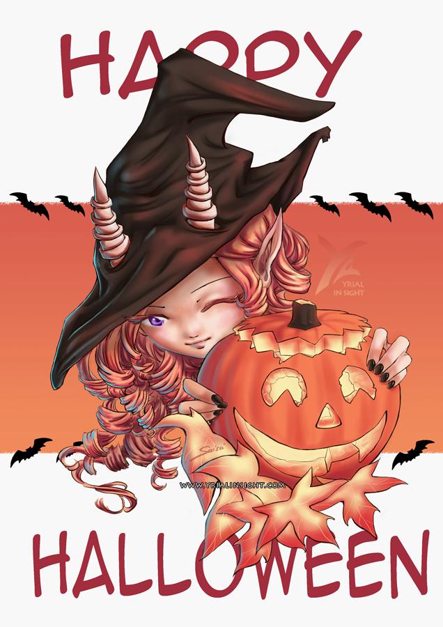 Petite sorcière taquine pour Halloween