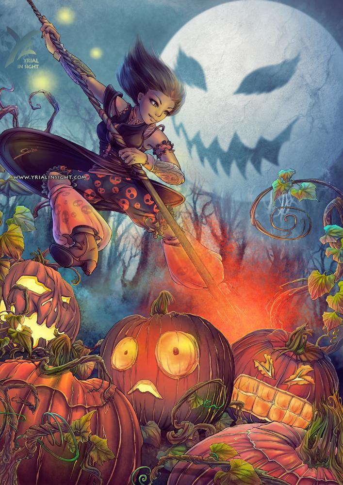 Pourfendeuse de Citrouille pour Halloween - grand format