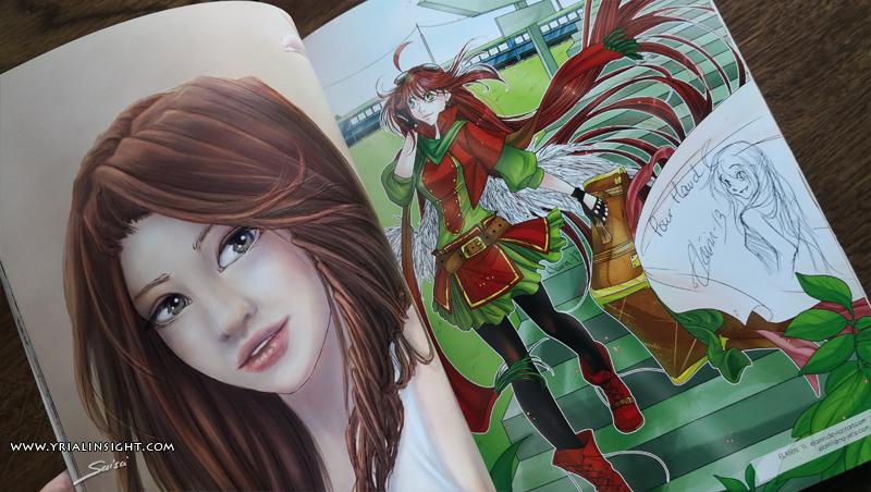 """photo dédicace : illustration de convention manga Art to Play d'Elairin à droite et mon illu """"comme un dimanche"""" à gauche"""