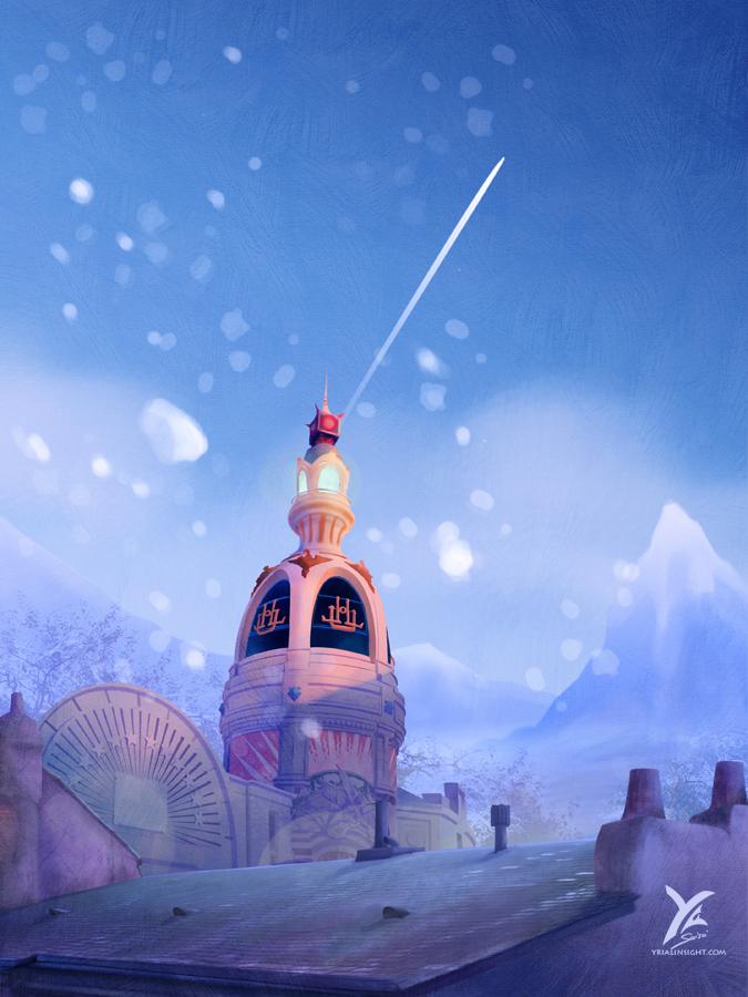 Lu Tower under the Snow