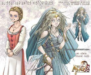 Collaboration avec Kômori : Alissa, variantes historiques