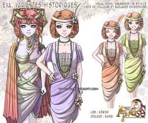 Collaboration avec Kômori : Eva, variantes historiques