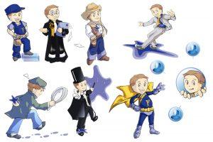 Fair, character design pour le site web