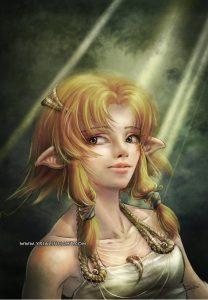 Elfe au bois