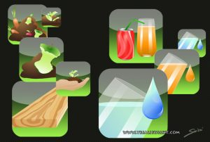 Icones vectorielles application mobile 1