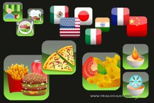 Icones vectorielles application mobile 2
