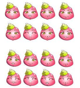 Fraizbi -mascotte Wazabi- expressions !