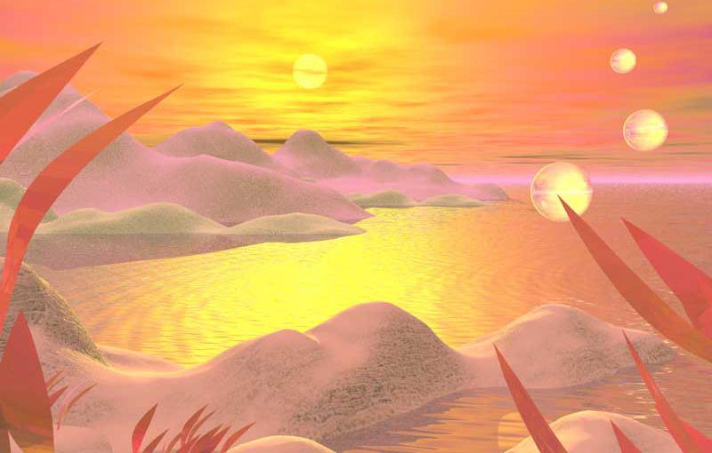 3D Landscape : Sunset