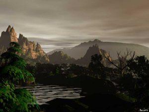 3D Landscape : Stormy