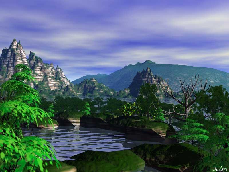 3D Landscape : Mountainous
