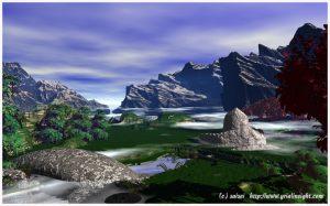 3D Landscape : Curious Garden