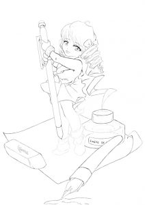Line Affiche Atelier Manga 02