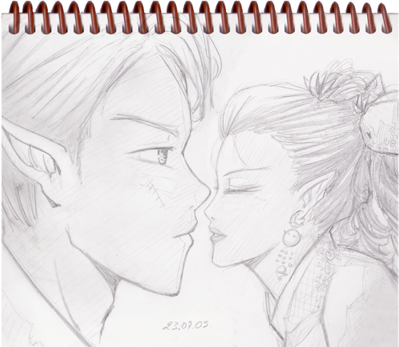 Sketch-2009-07-23-Couple-Elves