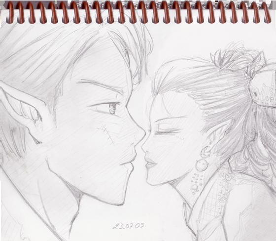Sketch-2009-07-23-Couple-Elves