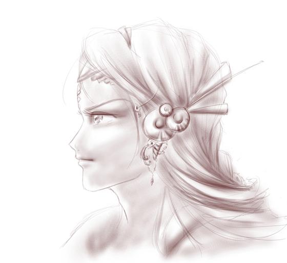 Sketch of Phea / Croquis de Phéa [Inflow]