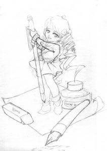 Croquis Affiche Atelier Manga 02