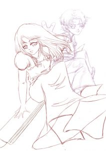 Croquis Affiche Atelier Manga 04