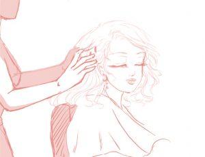 Détente chez le coiffeur