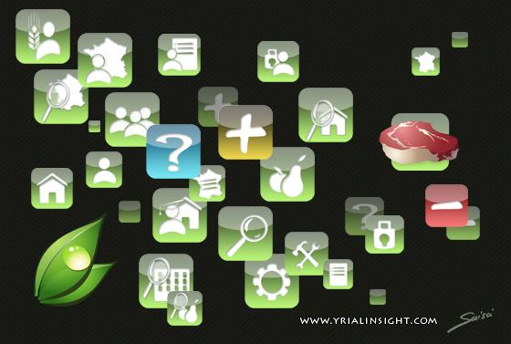 Icones vectorielles application mobile