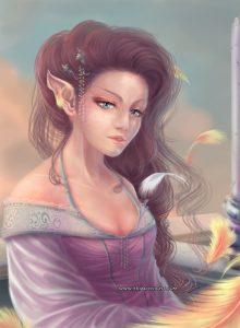 Elfe et le vieillissement du phoenix