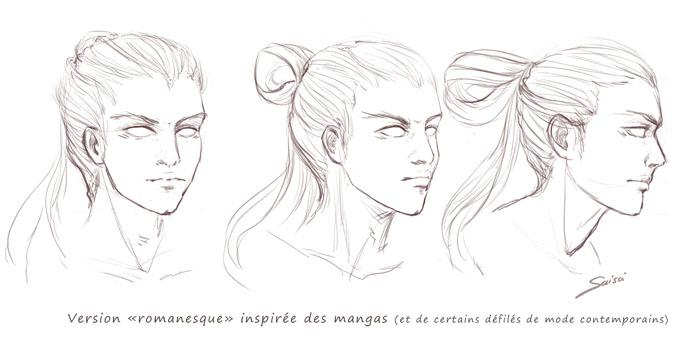 Croquis d'étude pour un personnage masculin | Association Wazabi | Convention manga Wazabi Nantes