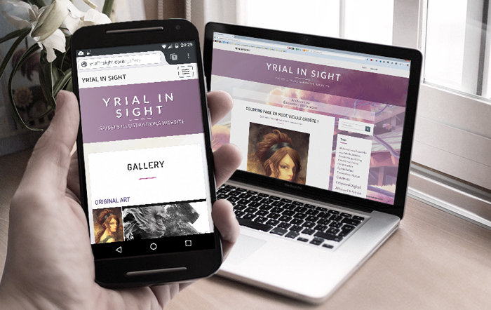 Visuels sur smartphone et tablette : blog du site yrial in sight, nouvelle version