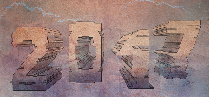 lettrage 3D - expérimentations