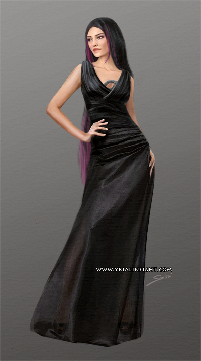 Costume 1 pour le personnage de Lila, JdR Vampire