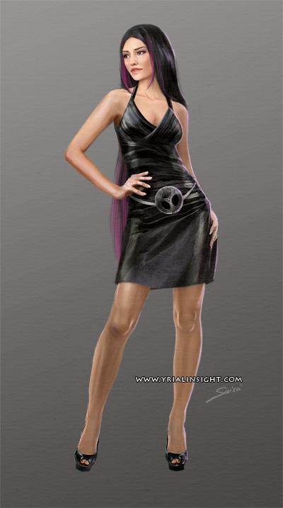 Costume 3 pour le personnage de Lila, JdR Vampire