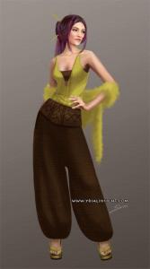 Costume 4 pour le personnage de Lila, JdR Vampire