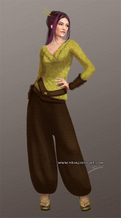 Costume 5 pour le personnage de Lila, JdR Vampire