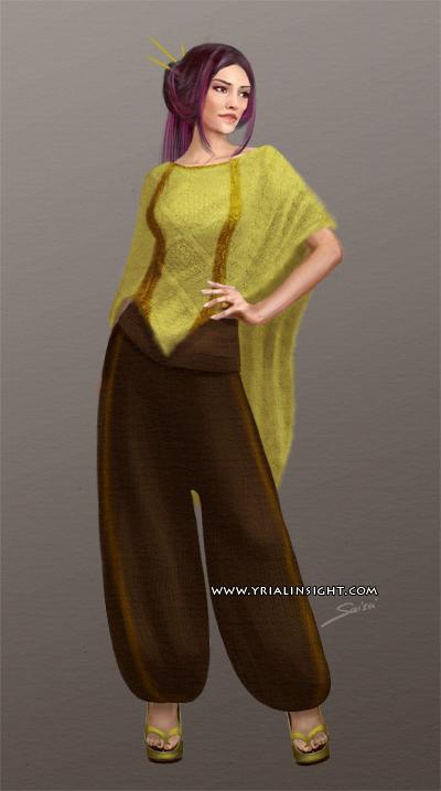 Costume 6 pour le personnage de Lila, JdR Vampire