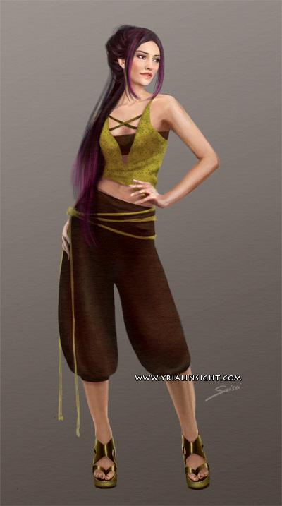 Costume 7 pour le personnage de Lila, JdR Vampire
