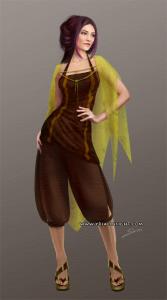 Costume 9 pour le personnage de Lila, JdR Vampire