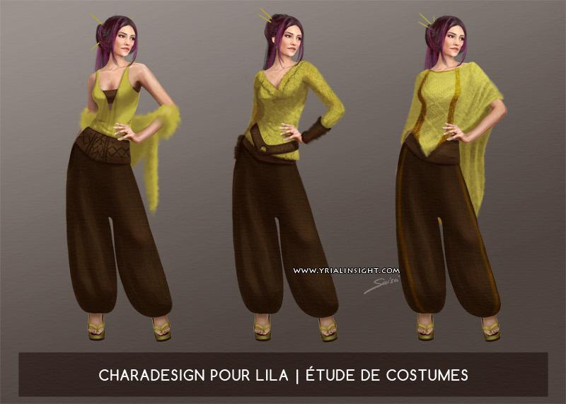 Costumes pour le personnage de Lila, JdR Vampire