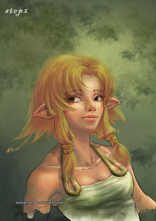 elfe au bois - étape 2