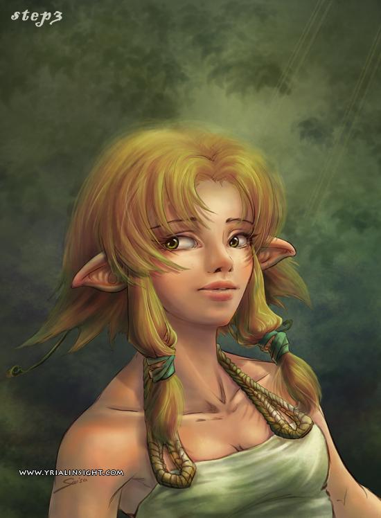 elfe au bois - étape 3