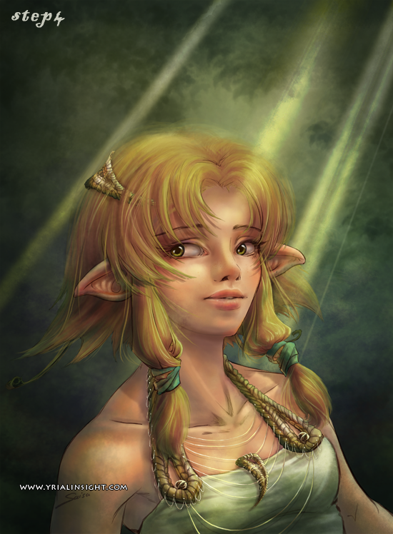 elfe au bois - étape 4