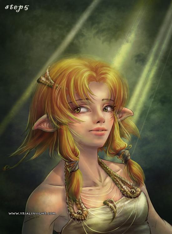 elfe au bois - étape 5