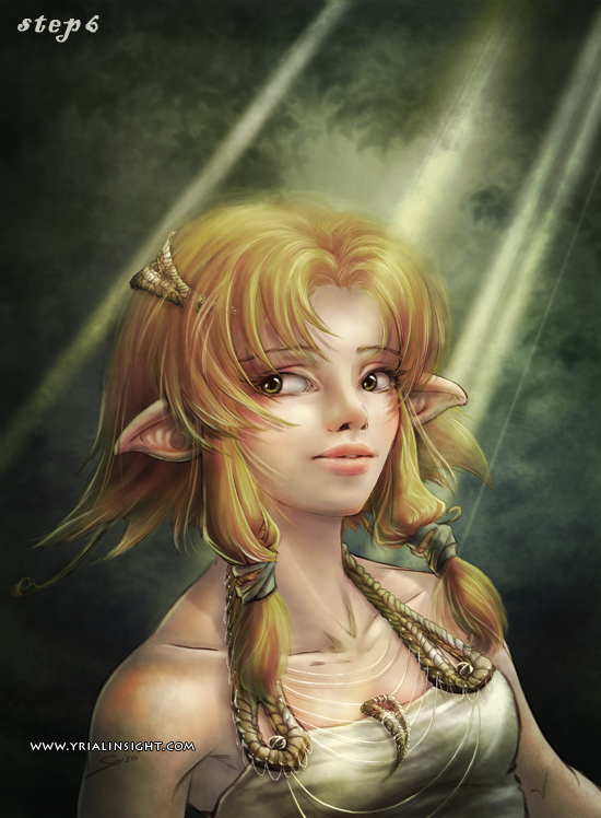 elfe au bois - étape 6