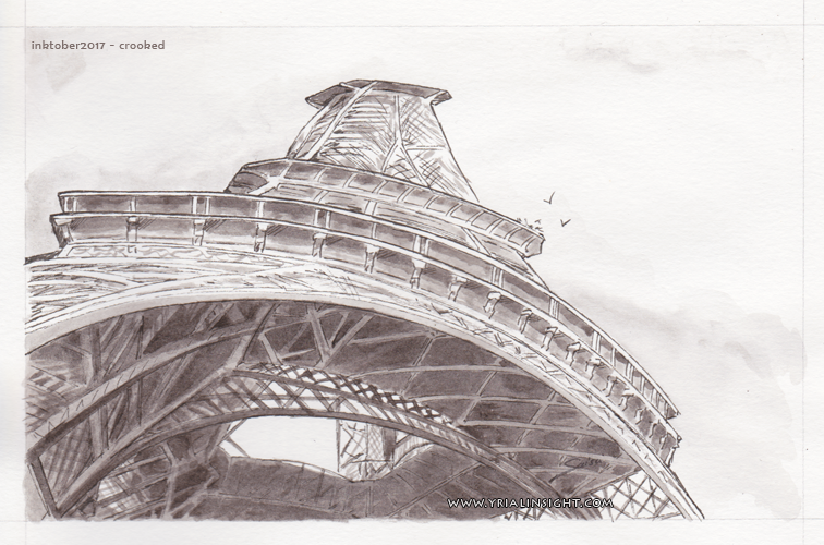 Inktober 2017 | Crooked Eiffel Tower