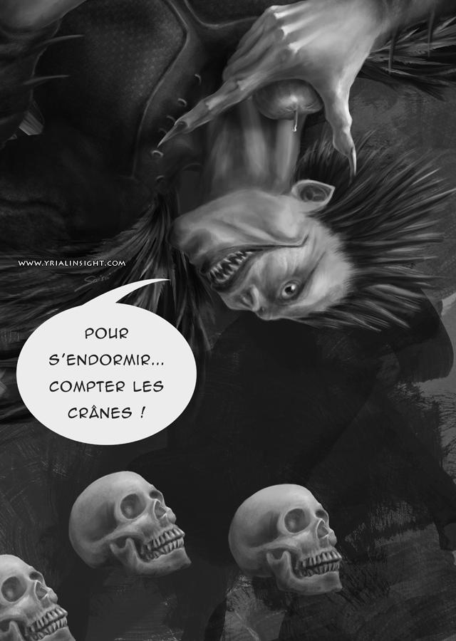 Carte Parodique de Death Note en noir et blanc