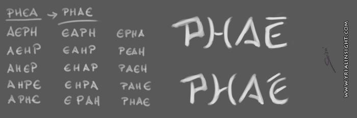 Recherche d'un anagramme autour de Phéa