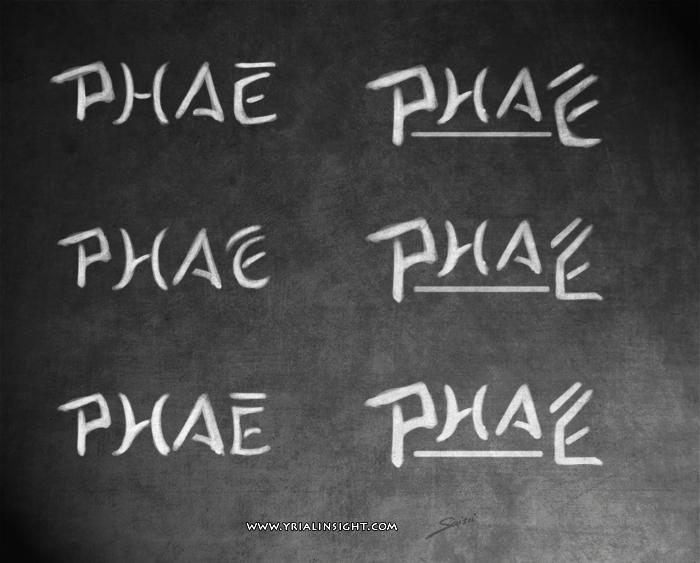 Recherche typographique pour un logo au nom de Phaé