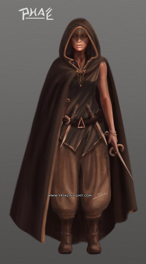 Phaé, charadesign : costume de la planche 2