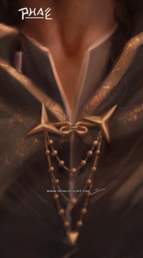 Phaé, charadesign : détail du costume de la planche 2