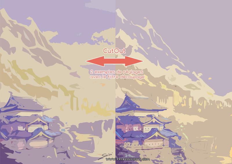 Temple Japonais : 2 tests du découpage