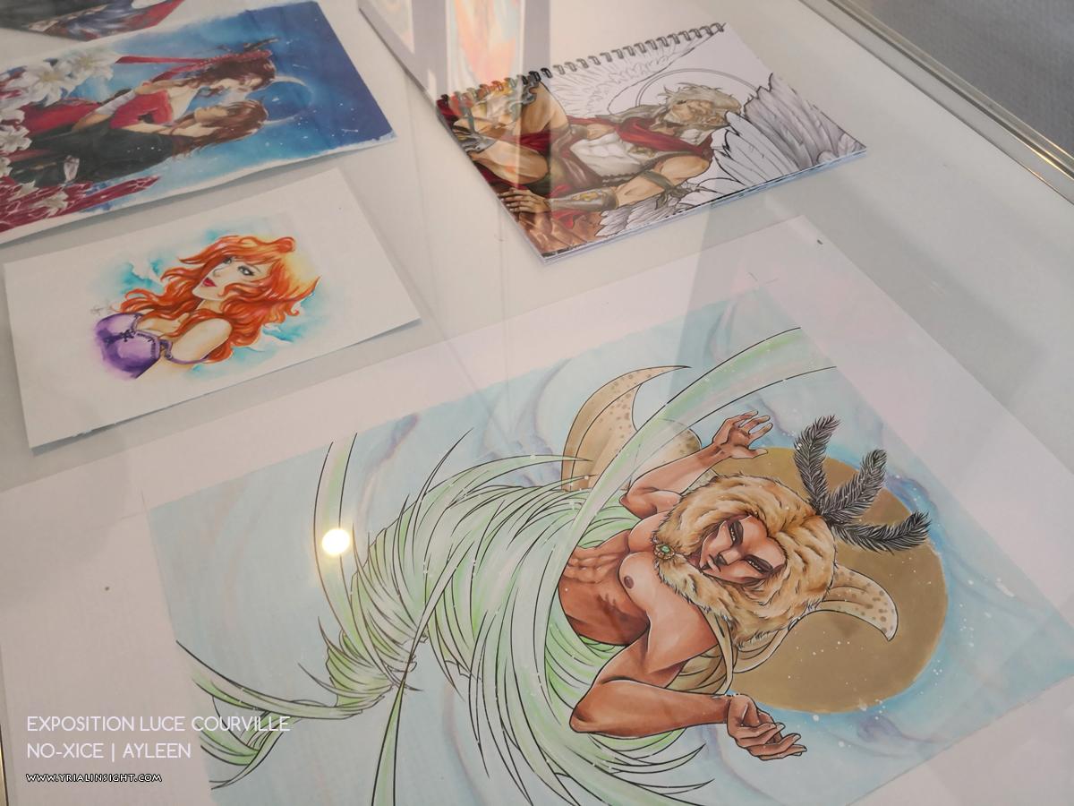Oeuvres originales d'Ayleen | No-Xice | Expo Luce Courville autour de MangAsia