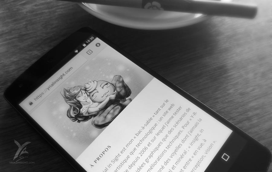 nouvelle page de présentation pour Yrial in Sight vue sur mobile / smartphone