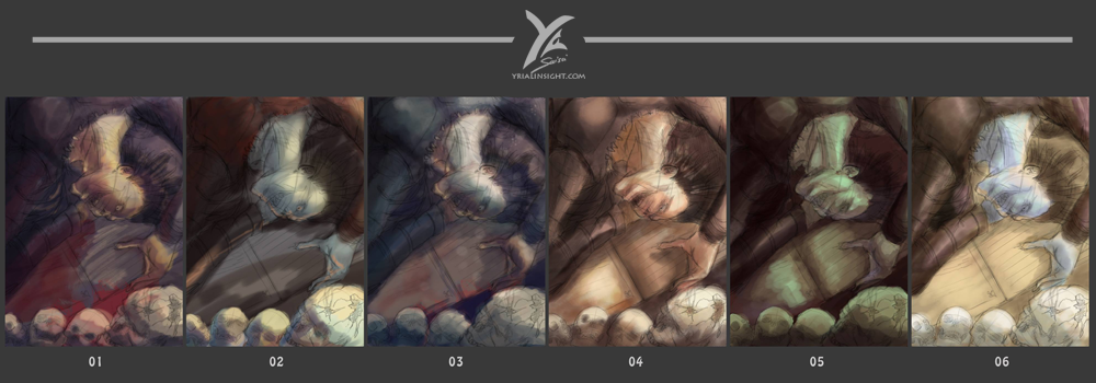 Artbook Fanart re:Style | preview de tests de colorisation & ambiances